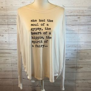 Om & Ah London slouch lounge top, NWT's